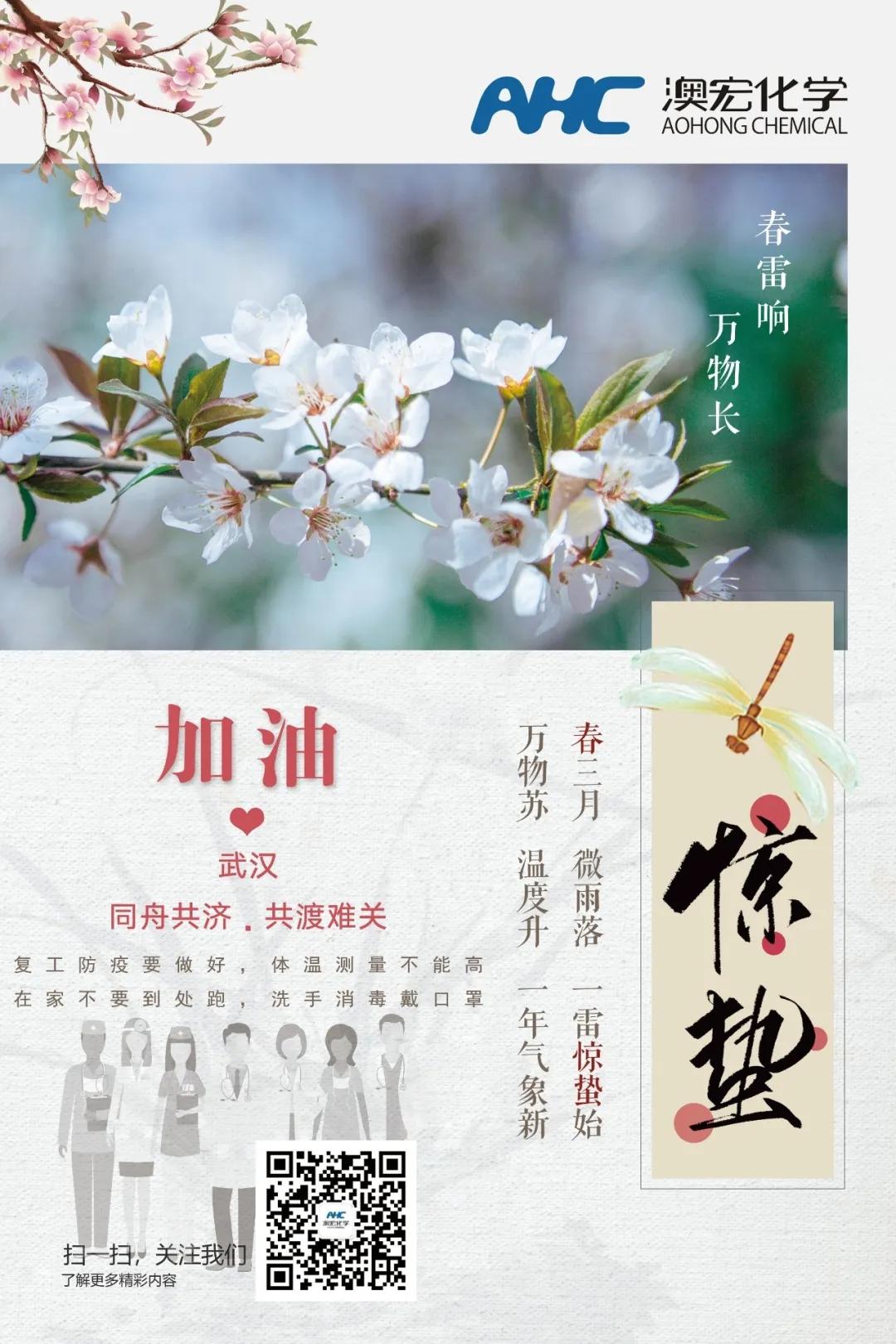 2020年3月5日 今日惊蛰,春暖花开万物苏,愿疫情早日散去,武汉加油!中国加油!
